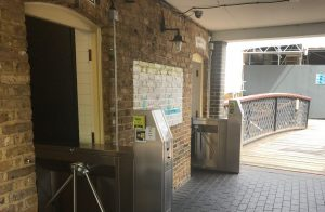 Nayax's cashless payment solution for pulse machines integrated at a public restroom