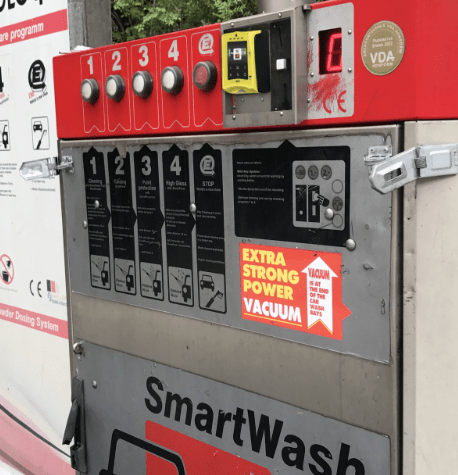 car wash system with cashless point of sale solution